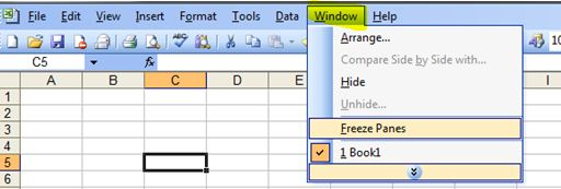 How to freeze rows columns in excel outofhoursadmin this ccuart Images