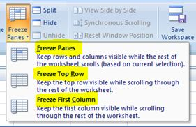 how to make column headings always visible in excel