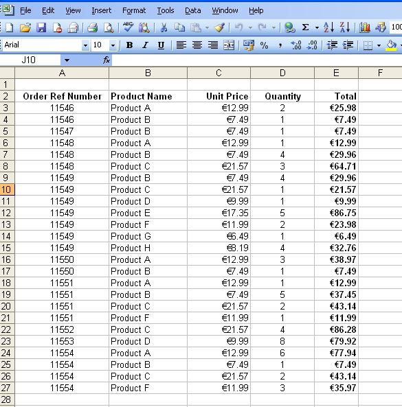 Pivot Tables (Part 1) - How to create a pivot table in Excel 2003 ...