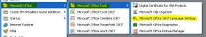 MS Office Language Settings