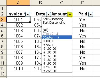 Sheraton Receipt How To Insert Autofilter In Excel  Outofhoursadmin Cute Invoice Template with Easy Invoice Software Custom   Beautiful Invoices Word