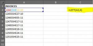 Left formula Excel