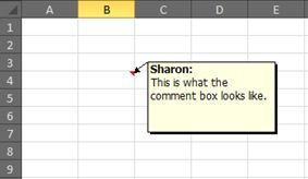 Comment text box
