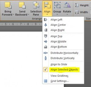 Align objects PowerPoint
