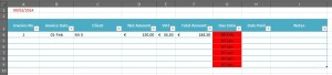 Excel formatting