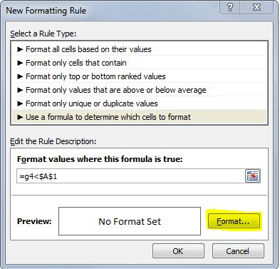 How to apply conditional formatting in Excel - OutofhoursAdmin