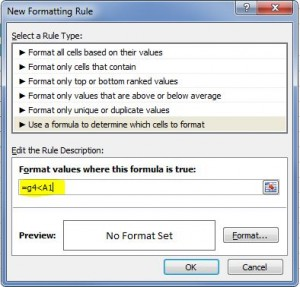 Format Formula Excel