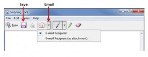 Email snipping tool