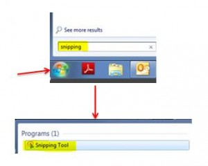 Snipping Tool Search