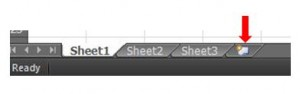 Excel insert sheet icon