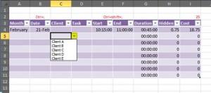 Excel client list