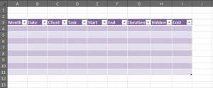 excel spreadsheet sample