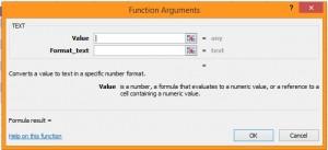 Text formula excel