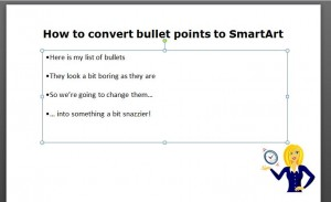 PowerPoint bullet points