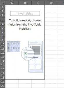 Blank pivot table