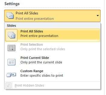 Print notes section in powerpoint